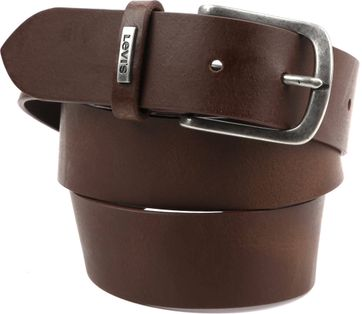 Levi\'s Lev 8 Leather Belt Brown