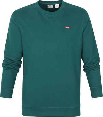 Levi's Original Sweater Donkergroen
