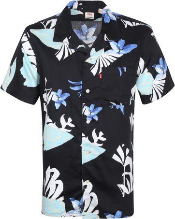 Levi's Overhemd Bloemen Zwart