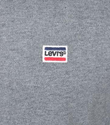 Detail Levi\'s Polo Uni Grau