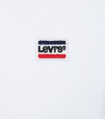 Detail Levi\'s Polo Uni Weiß