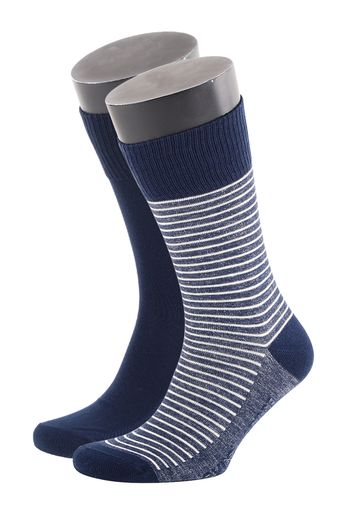 Levi's Socks Cotton 2-Pack Blue + Stripes