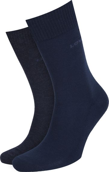 Levi's Socks Cotton 2-Pack Navy 321