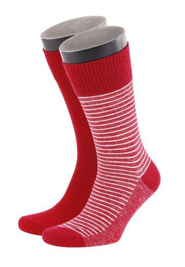 Levi's Socks Cotton 2-Pack Red + Stripes