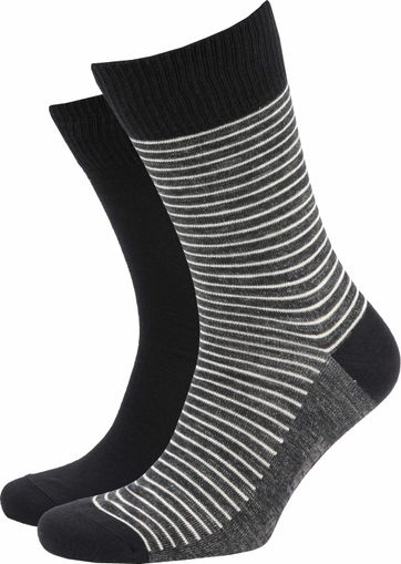 Levi's Sokken 2-Pack Zwart & Antraciet
