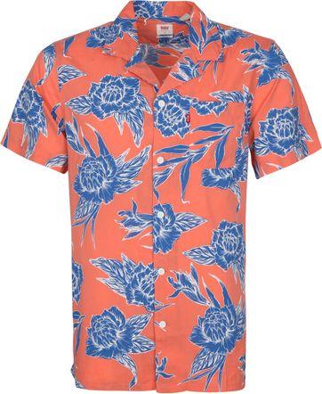 Levi's SS Overhemd Camper Bloemen Blauw