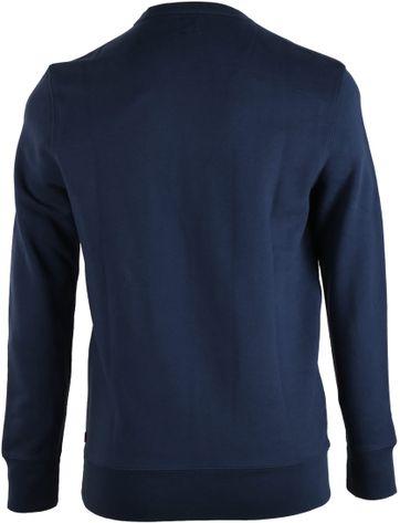 Detail Levi\'s Sweater Donkerblauw Print