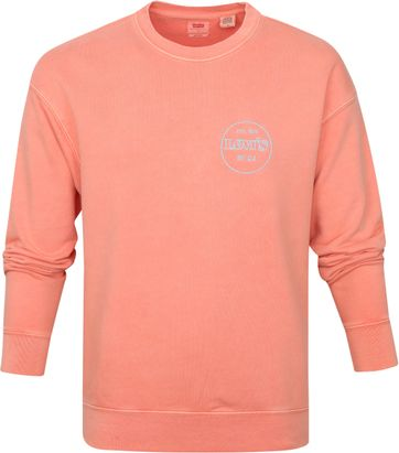 Levi's Sweater Graphic Logo Pink