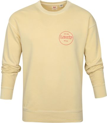 Levi's Sweater Graphic Logo Yellow