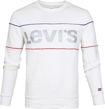 Levi's Sweater Logo Weiß