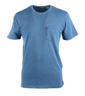 Levi\'s T-Shirt Basic Rundhals Blau