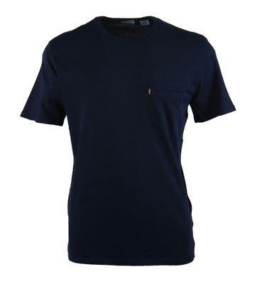 Levi\'s T-Shirt Brusttasche Navy
