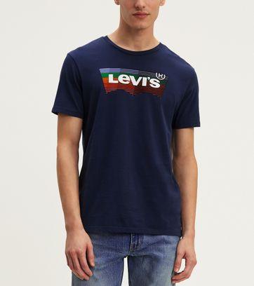 Levi's T-shirt Classic Logo Navy