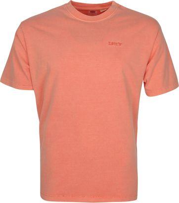 Levi's T-Shirt Garment Dyed Koraal Rood