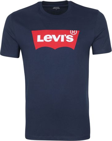 Levi's T Shirt Graphic Logo Blue