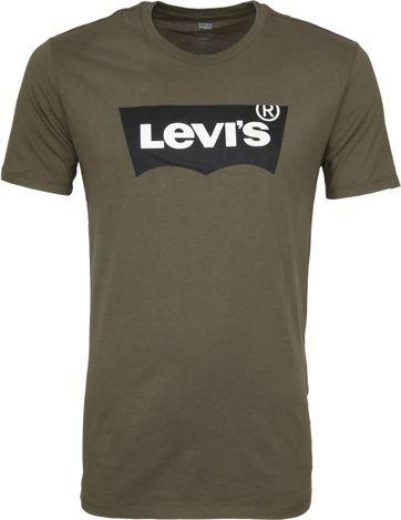 Levi's T-shirt Groen Logo