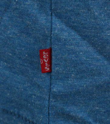 Detail Levi\'s T-shirt Logo Blauw