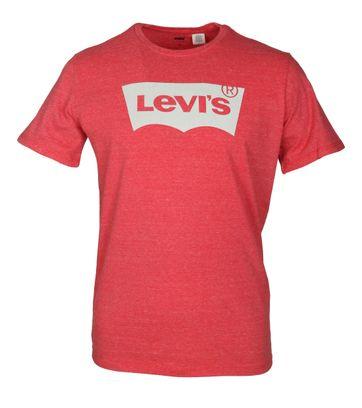 Levi\'s T-shirt Melange Logo Rot