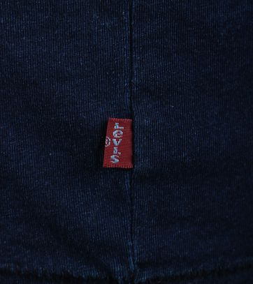 Detail Levi\'s T-shirt met Logo Indigo