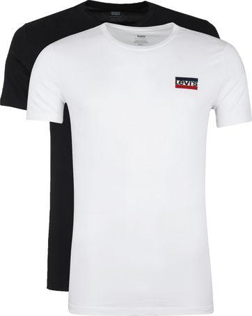 Levi's T-shirt O-Hals 2-Pack