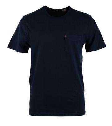 Levi\'s T-shirt Pocket Dark Blue