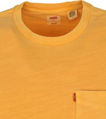 Levi's T-Shirt Pocket Garment Dyed Oranje