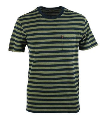 Levi\'s T-shirt Pocket Groen Streep