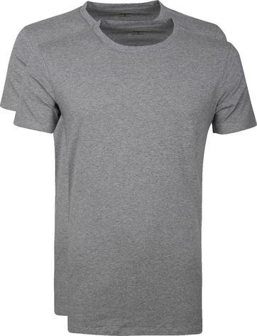 Levi's T-shirt Ronde Hals Grijs 2Pack