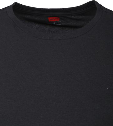Levi's T-shirt Ronde Hals Zwart 2Pack