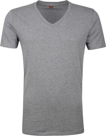 Levi's T-Shirt V-Hals Grijs 2-Pack