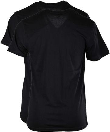Levi's T-shirt V-Hals Schwarz 2Pack