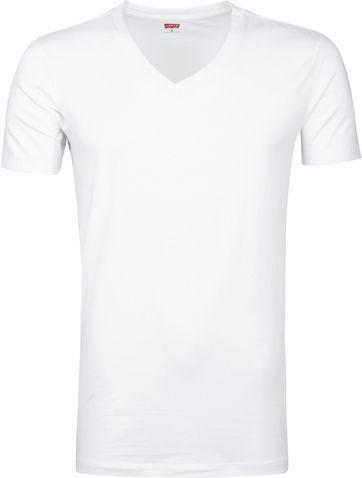 Levi's T-Shirt V-Hals Wit 2-Pack