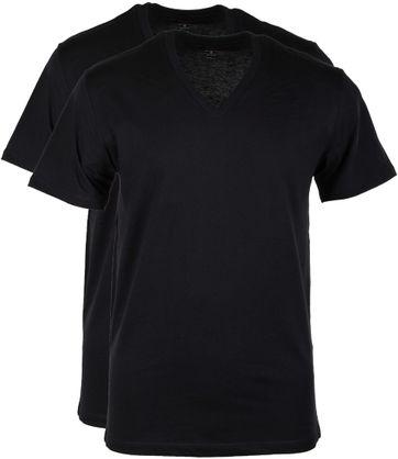 Levi's T-shirt V-Hals Zwart 2Pack