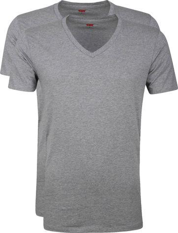 Levi's T-Shirt V-Neck Grey 2Pack