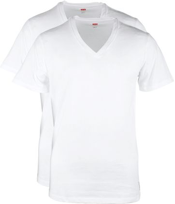 Levi's T-shirt V-Neck White 2-Pack