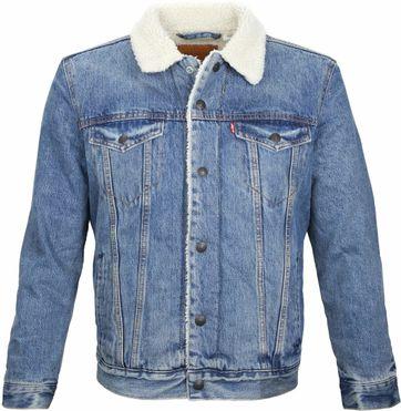 Levi\'s Trucker Jacket Sherpa Blue