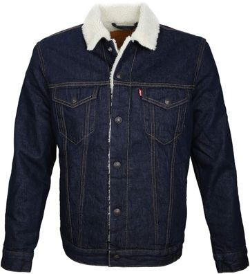 Levi's Trucker Jacket Sherpa Navy