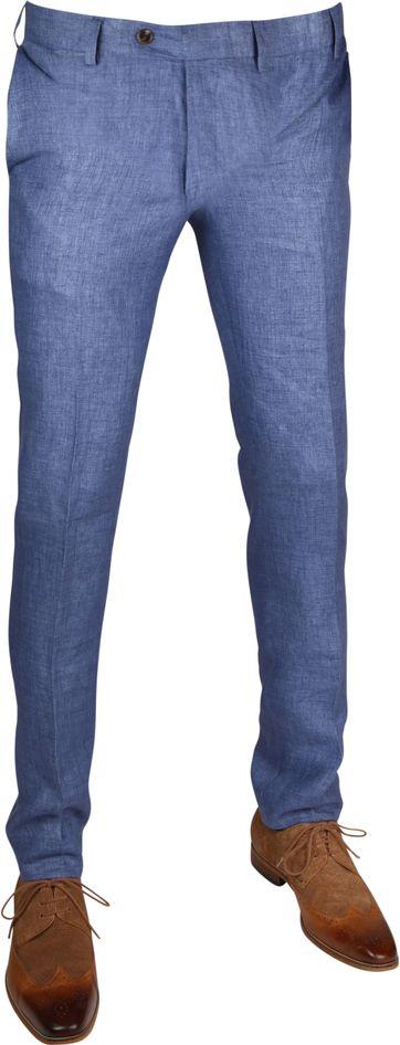 Linnen Pantalon Blauw