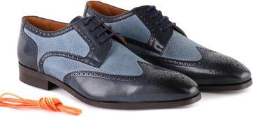 Luxe STBL Brogues Wingtip Veterschoenen Blauw