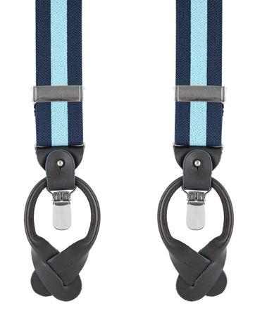 Luxus Hosenträger Dunkelblau - Hellblau