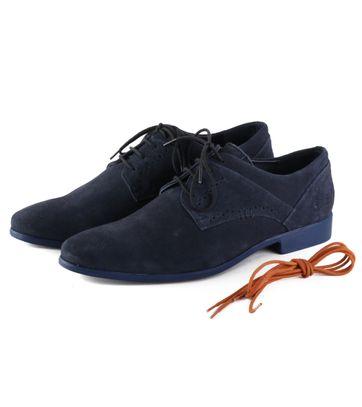 Luxus STBL Herren Schuhe Suede Navy