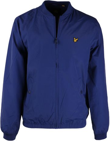 Lyle and Scott Bomber Jacket Blue