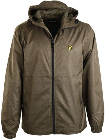 Lyle and Scott Jacket Olive Marl
