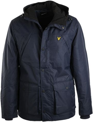 Lyle and Scott Winterjas Fleece Donkerblauw