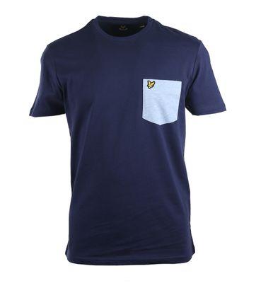 Lyle & Scott Pocket Tshirt Donkerblauw