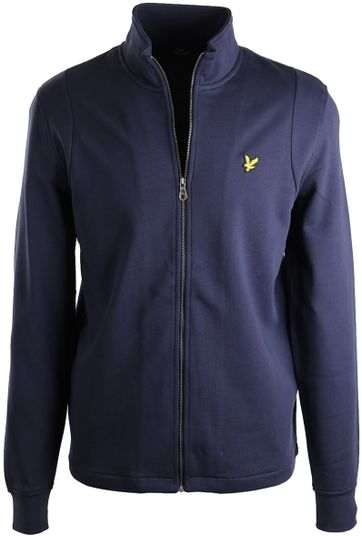 Lyle & Scott Strickjacke Funnel Dunkelblau