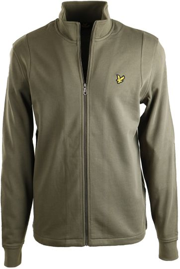 Lyle & Scott Strickjacke Funnel Grün
