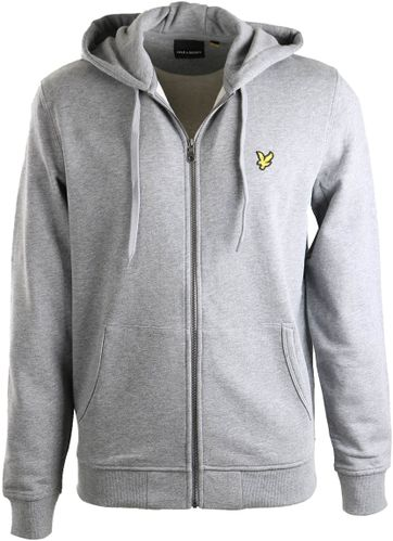 Lyle & Scott Strickjacke Haube Grau