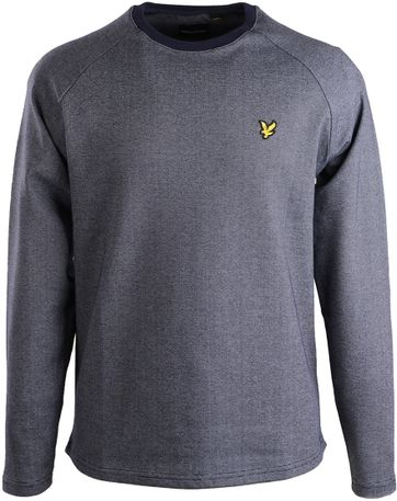 Lyle & Scott Sweater Navy Stripes