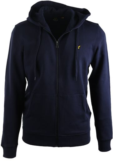 Lyle & Scott Zip Through Hoodie Donkerblauw